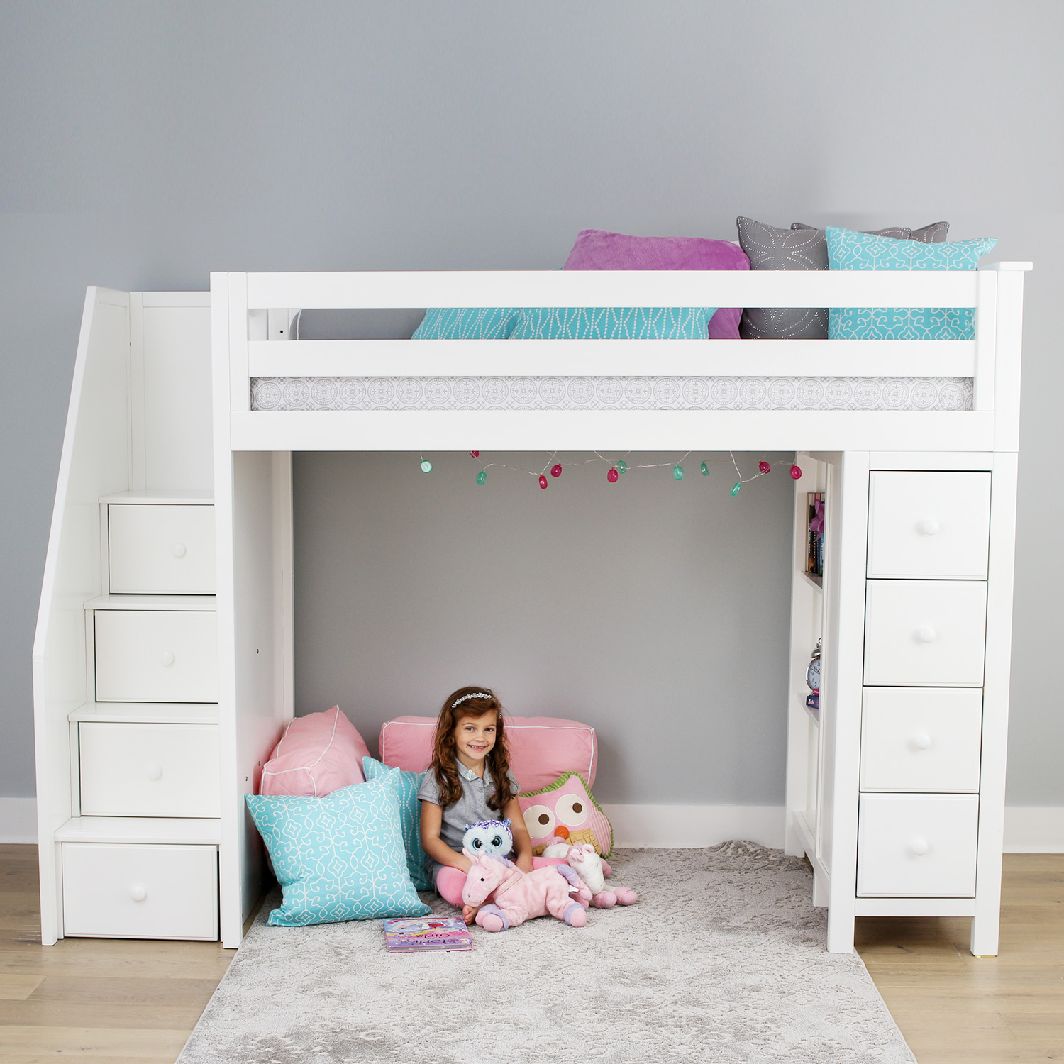 Jackpot All In e Loft Beds Image Gallery Maxwood Furniture Inc